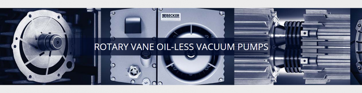 Oil-less rotary vane vacuum pumps.