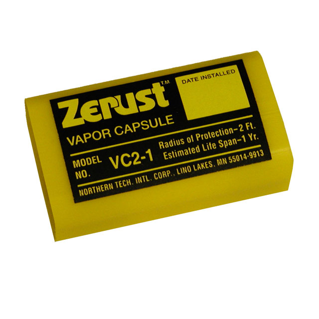 A Zerust capsule with the same technology as the table saw cover.