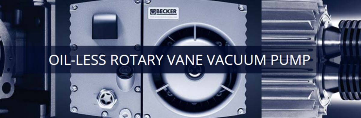Oil-less Rotary Vane Vacuum Pumps