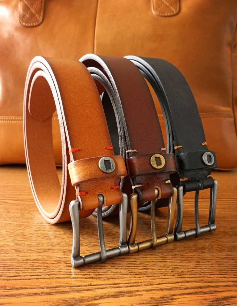 Men's Genuine Leather Belts | Status Leather Goods