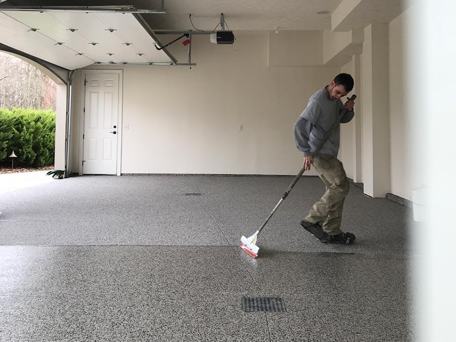 Garage Floor Coating Process