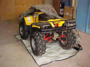 camo ATV cover with vehicle