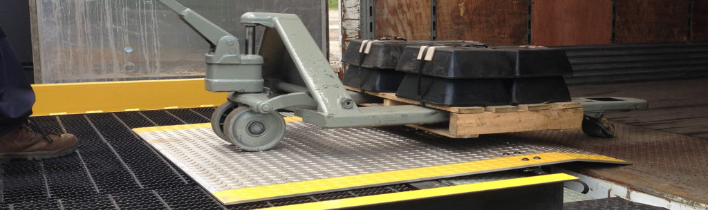 dock plate with cart